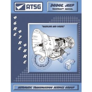22400E - ATSG Dodge Jeep 46RE 47RE 48RE A518 Transmission Rebuild Instruction Tech Manual