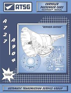 12400 ATSG Dodge A727 TF8 36RH 37RH A904 30RH 31RH 32RH Transmission Rebuild Manual
